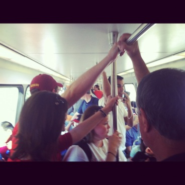 Nats and Clarendon Days = jammed Metro - photo Russ Imrie